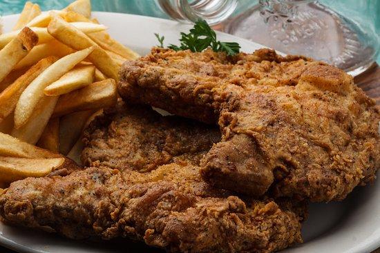Old Tyme Cafe Fried Pork Chop Dinner