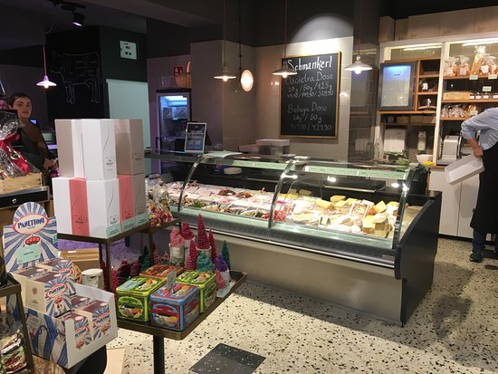 Marks Feinkost: Cheese and deli counter