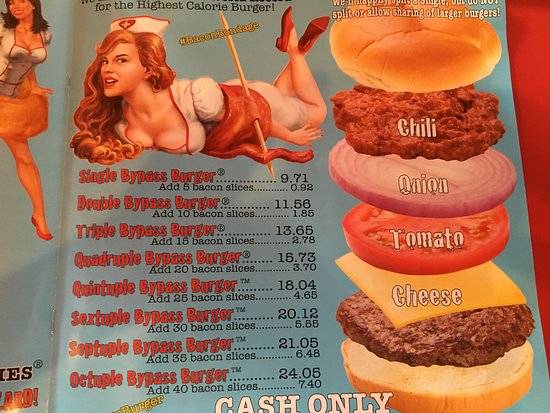las vegas heart attack grill menu