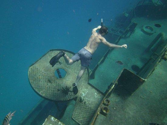 George Town, Grand Cayman: Snorkeling al relitto e alla barriers