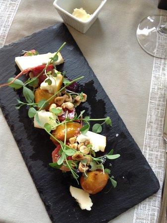 Inn On The Twenty Restaurant : Heirloom Beet Salad with Goat Cheese