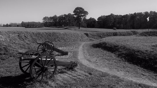 Yorktown, VA: Trenches and earthworks.