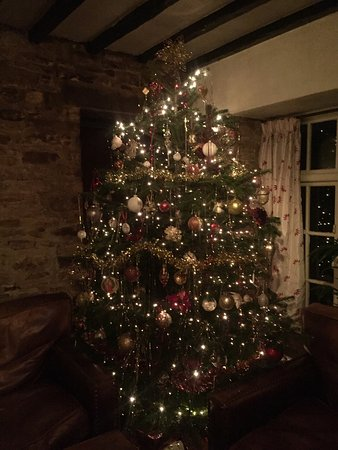 Kirtlington, UK: Christmas Tree at The Oxford Arms