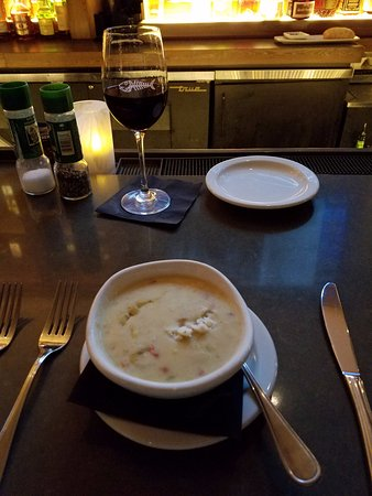 Pine Brook, NJ: Corn Chowder with Crab.