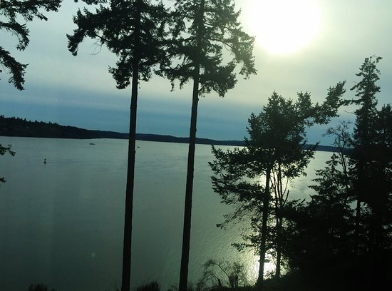 Suquamish, Ουάσιγκτον: The view from our room looking over the water was beautiful and peaceful.