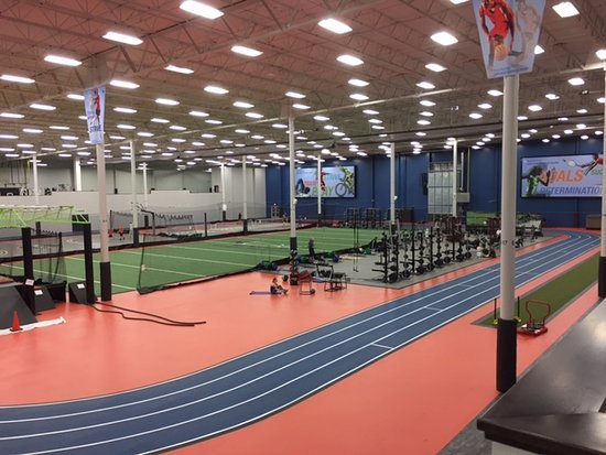 Amazing indoor fitness equipment and track is available to for Sport court cost per square foot