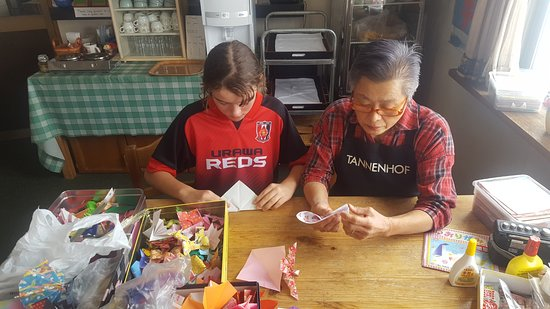 Pension Tannenhof : Origami with kids