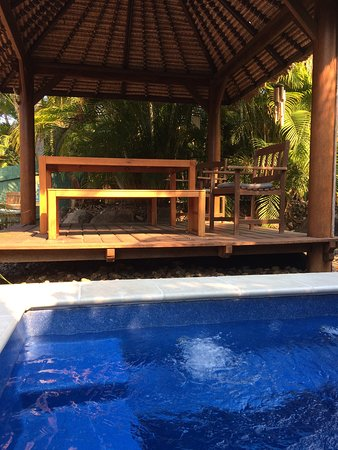 Pialba Motor Inn: The pool and spa bbq area is a few steps from your room. Tranquility is the first impression I f