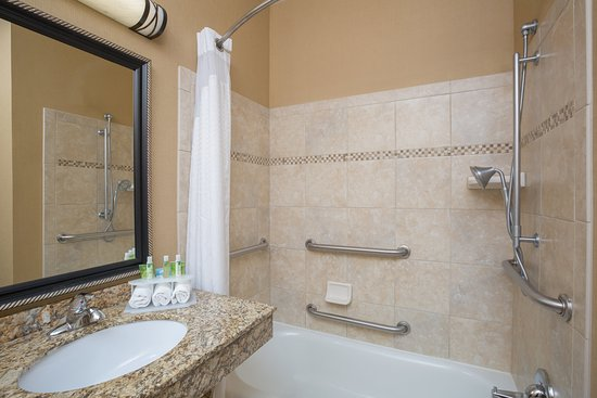 Holiday Inn Express : ADA/Handicapped accessible Guest Bathroom with mobility tub
