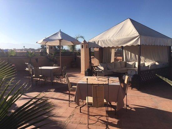 Riad Shama: terraza