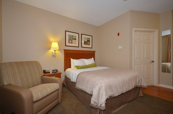 Candlewood Suites Clarksville: Single Bed Guest Room