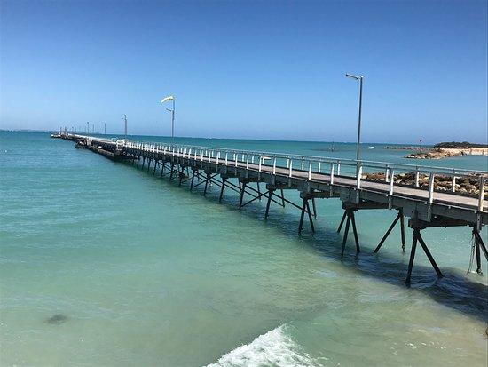 Beachport, أستراليا: Ein schöner Steg ins Meer. Wunderbar für eine romantischen Spaziergang.