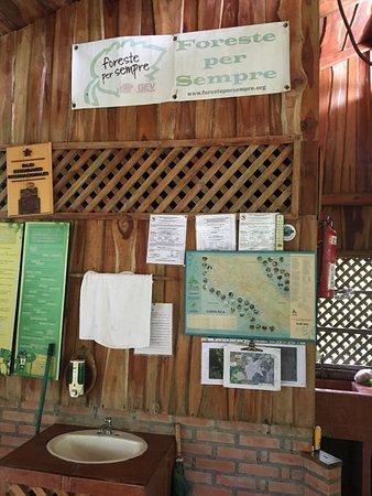 Karen Mogensen Nature Reserve, Costa Rica: bacheca
