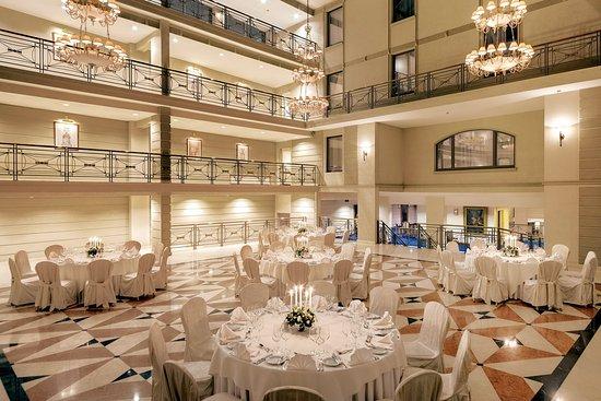 Kempinski Hotel Moika 22: Atrium Banquet Setup