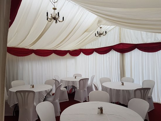 Shepperton, UK: New heated marquee