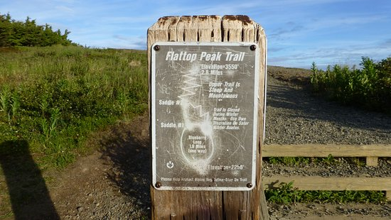 Map of the trail Picture of Flattop Mountain Trail Anchorage