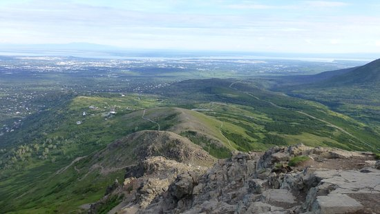 Flattop Mountain Trail: View as one gets higher up