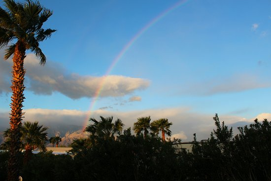 Sands Rv & Golf Resort: Rainbow sky from my rv space.