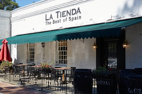 32fc36cd Enjoy a glass of wine and tapas on our patio - Picture of La Tienda ...