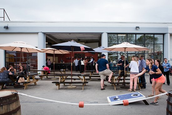Rising Tide Brewing Company: Enjoy Our Tar Patio With A Round Of Corn Hole