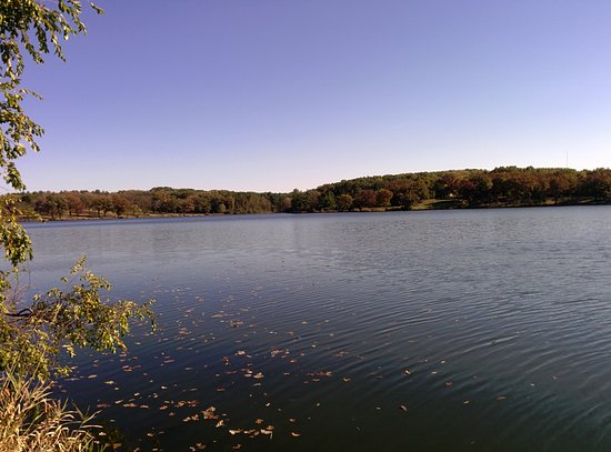 Loves Park, IL: A view of the lake from the northwest corner/camping locations.