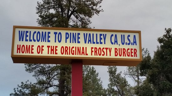 Pine Valley, Californien: The restaurant has been there since 1980