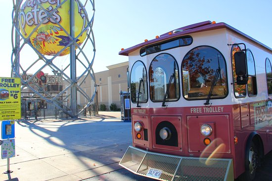 Ride Sparky Free Downtown Branson Trolley