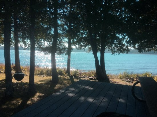 Drummond Island, MI: The view from the front deck of The Getaway Cottage