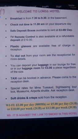 Lords Hotel: Condiciones del hotel