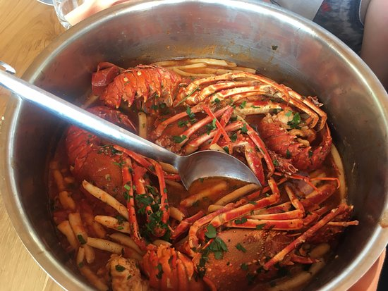 Hvar Island, Croatia: Lobster buzara with homemade pasta