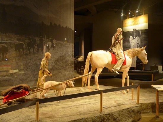 Museum of the Plains Indian: autre scène d'indiens