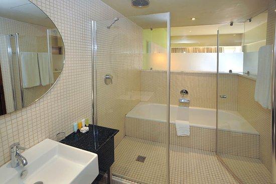 Pervolia, Cyprus: Deluxe Sea View Room Bathroom