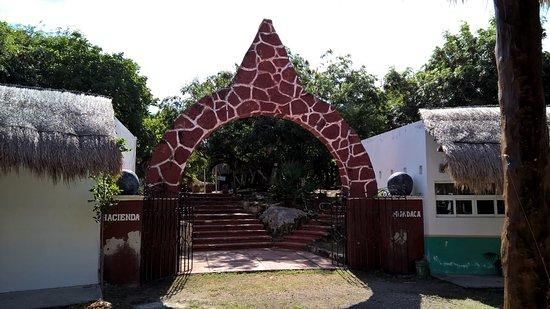 Hacienda Mundaca: The entrance