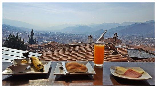 Mirador de Santa Ana: Vue du balcon de la salle à manger et de notre chambre