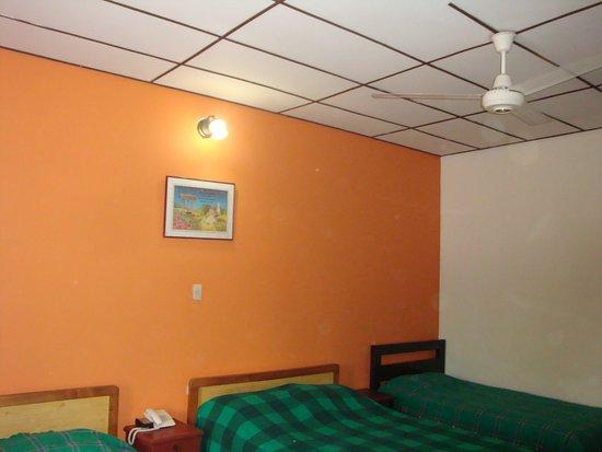 Hotel Las Nieves: ofrecen aire acondicionado, pero en realidad son ventiladores.