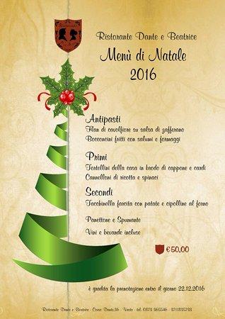 Menu Di Natale A Casa.Menu Di Natale Picture Of Dante E Beatrice Vasto