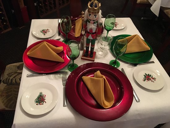 Lake Lure, Carolina del Norte: Christmas time in the restaurant !