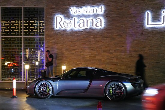 Centro Yas Island: Sister hotel across road, but certainly during F1 you will see many cars like this