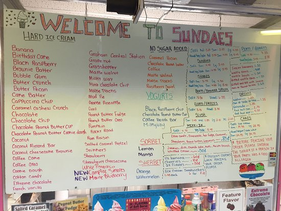 Seekonk, MA: Menu Board (partial)