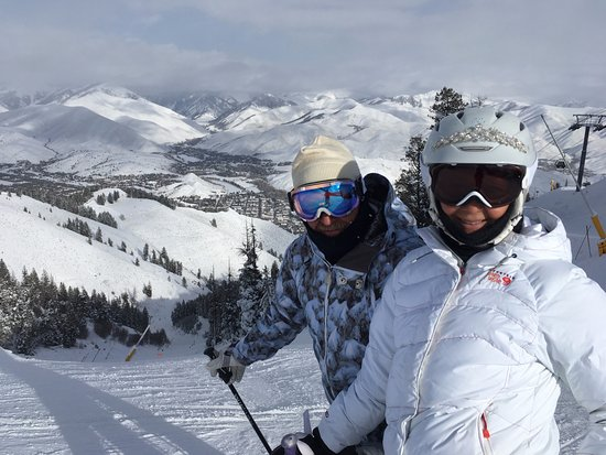 Sun Valley, Айдахо: Skiing down College.
