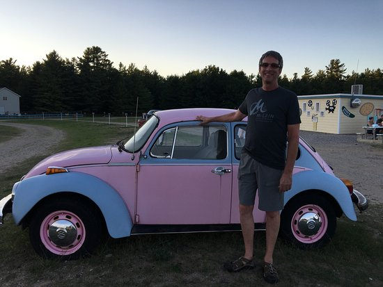 Honor, MI: My husband standing with Cherry Bowl's VW
