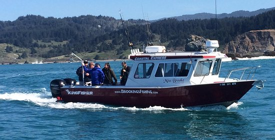 Brookings, OR: The Miss Brooke, one of the fastest, most comfortable charters on the Oregon Coast.