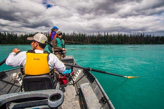Soldotna, AK: Drift fishing the Kenai River with Corsetti's Guide Service, LLC