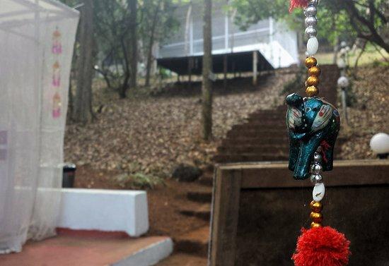Anjuna, India: Reception desk area