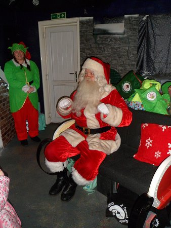 kirklees light railway santa telling us to pull up the covers and go to sleep - How To Go To Sleep On Christmas Eve