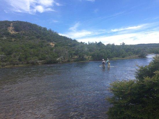 El Encuentro Lodge: Golden Brown Trout from Rio Grande