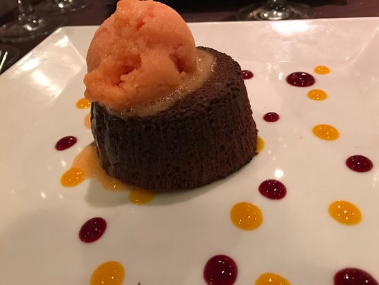 La salle a manger : Fondant au chocolat noir