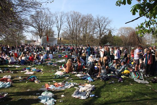 Lund, Szwecja: A typical view on 30th April - especially if it is sunny.