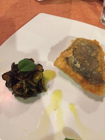 Taverna Mascalzone: baccala e zucchine alla scapece