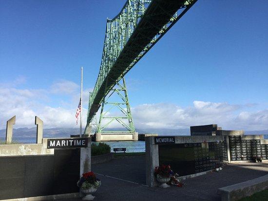 Maritime Memorial under the bridge.
